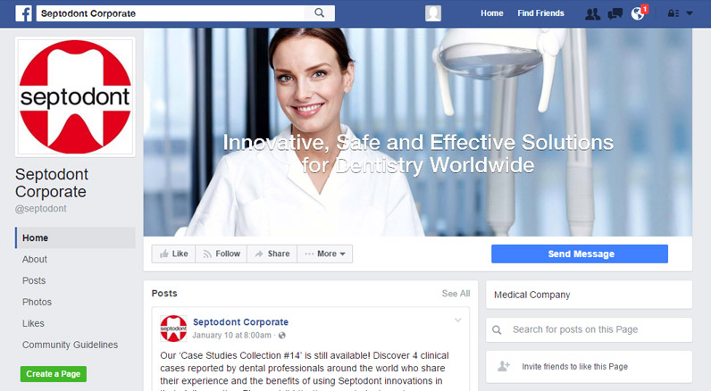 Corporate Facebook Page